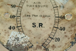 Clock dial before restoration - Services